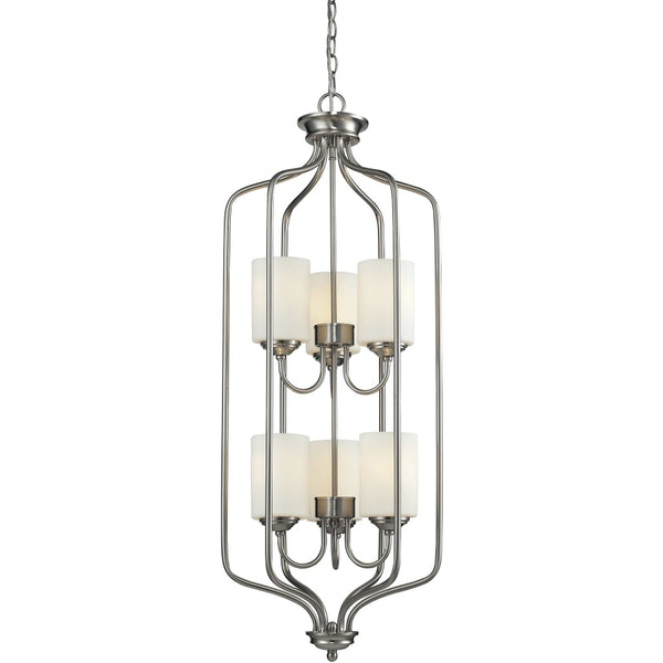 Cardinal Brushed Nickel Pendant - Pendants