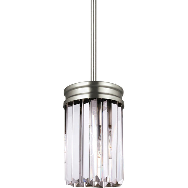 Carondelet Antique Brushed Nickel Mini-Pendant - Mini-Pendants
