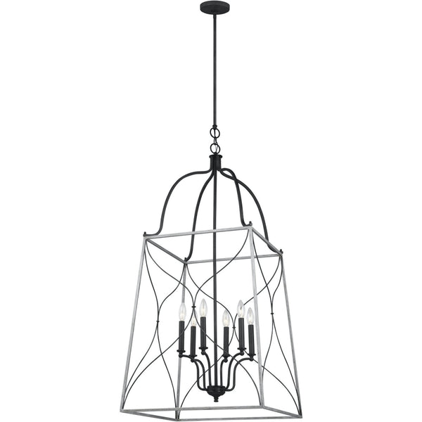 Carra White Wash Weathered Zinc Pendant - Pendants