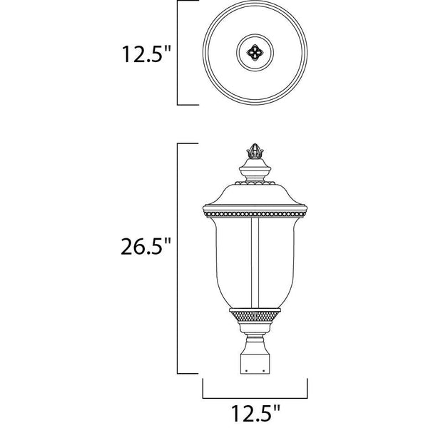 Carriage House LED Oriental Bronze LED Outdoor Pole/Post Mount - Outdoor Pole/Post Mount