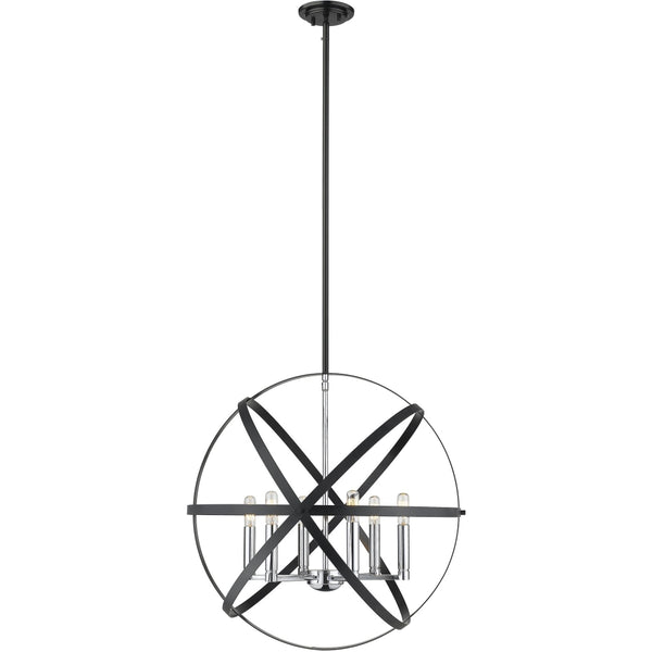 Cavallo Hammered Black Chrome Pendant - Pendants