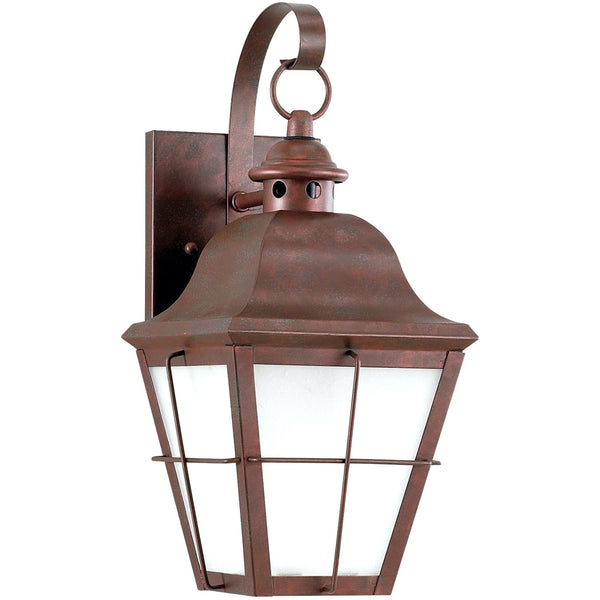 Chatham Weathered Copper LED Outdoor Wall Lantern - Outdoor Wall Sconce