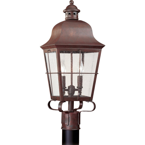 Chatham Weathered Copper Outdoor Post Lantern - Outdoor Post Lantern