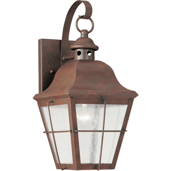 Chatham Weathered Copper Outdoor Wall Lantern - Outdoor Wall Sconce