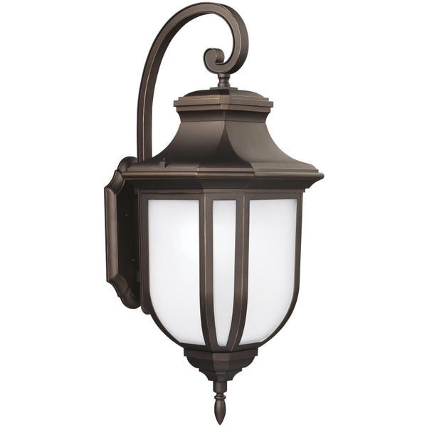 Childress Antique Bronze LED Outdoor Wall Lantern - Outdoor Wall Sconce