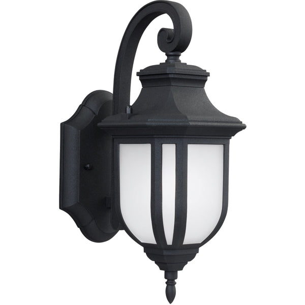 Childress Black Outdoor Wall Lantern - Outdoor Wall Sconce
