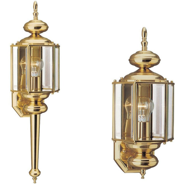 Classico Polished Brass Outdoor Wall Lantern - Outdoor Wall Sconce