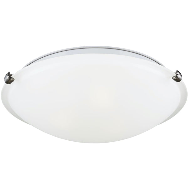 Clip Brushed Nickel Flush Mount - Flushmounts