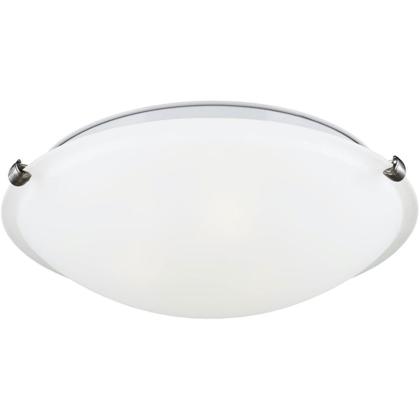 Clip Brushed Nickel LED Flush Mount - Flushmounts