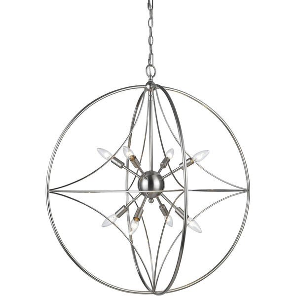 Cortez Brushed Nickel Pendant - Pendants
