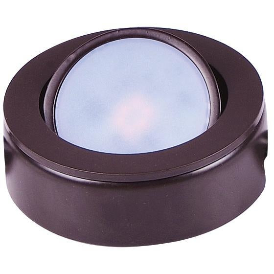 CounterMax MX-LD-AC Anodized Bronze LED Under Cabinet Disc - Under Cabinet Disc
