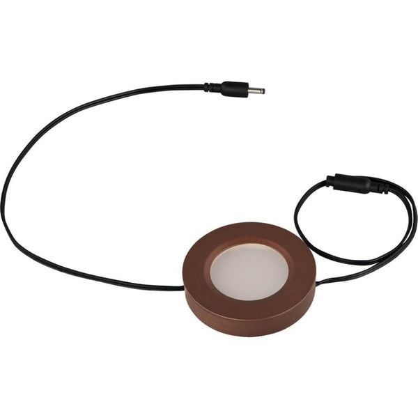 CounterMax MX-LD-D Anodized Bronze LED Under Cabinet Disc - Under Cabinet Disc