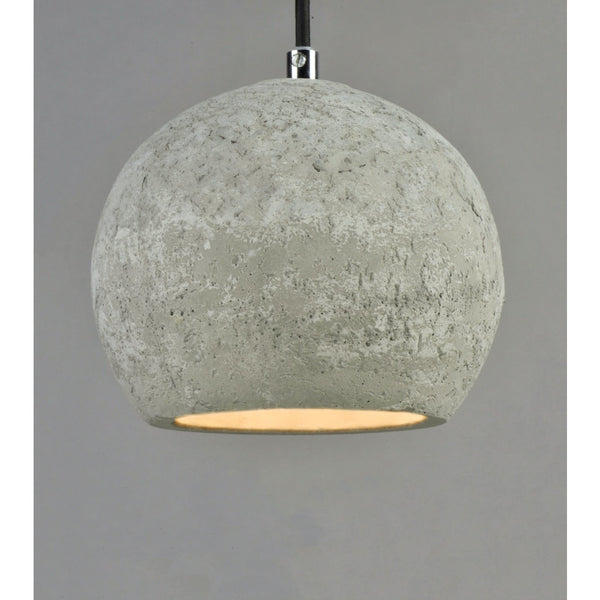 Crete Polished Chrome LED Single Pendant - Pendants