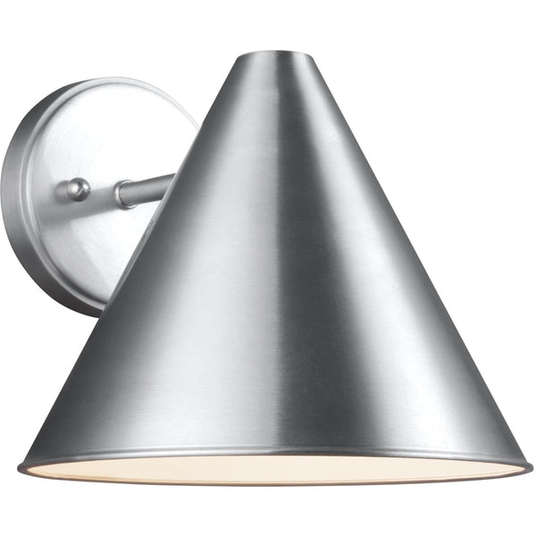 Crittenden Satin Aluminum LED Outdoor Wall Lantern - Outdoor Wall Sconce