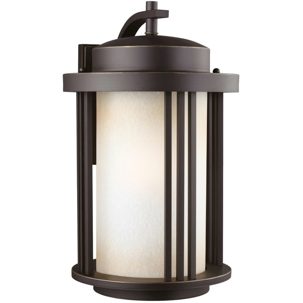 Crowell Antique Bronze LED Outdoor Wall Lantern - Outdoor Wall Sconce