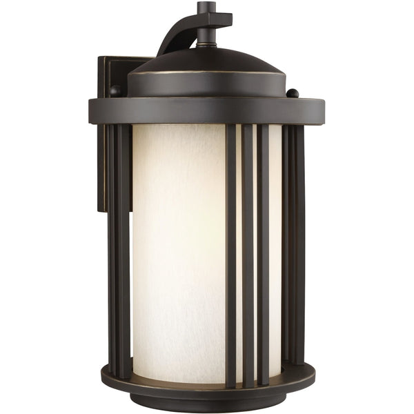 Crowell Antique Bronze Outdoor Wall Lantern-Open Box - Outdoor Wall Sconce