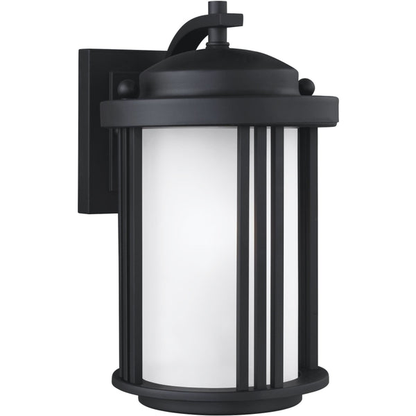 Crowell Black LED Outdoor Wall Lantern - Outdoor Wall Sconce