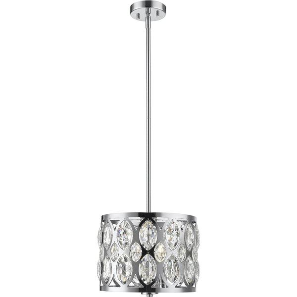 Dealey Chrome Chandelier - Chandeliers