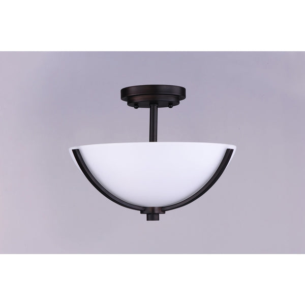 Deven Oil Rubbed Bronze Semi-Flush Mount - Semi-Flushmounts