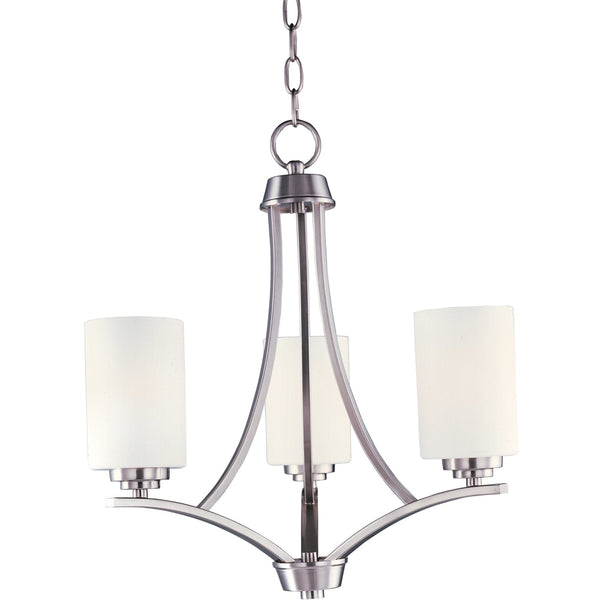 Deven Satin Nickel Mini Chandelier - Chandeliers