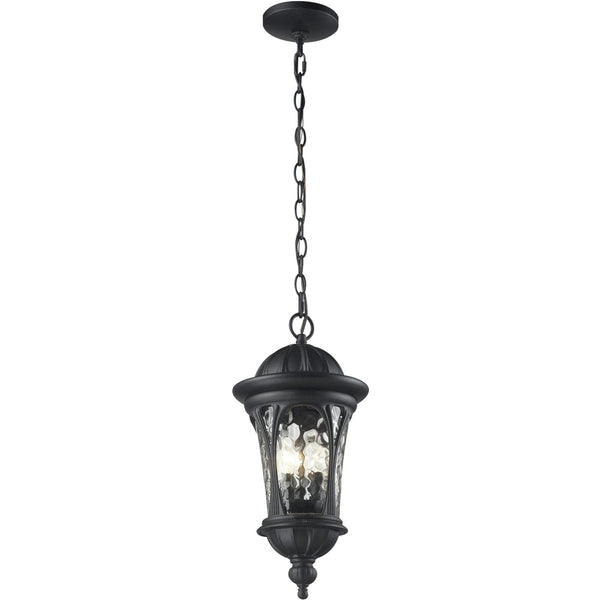 Doma Black Outdoor Chain Mount Ceiling Fixture - Outdoor Chain Mount Ceiling Fixture