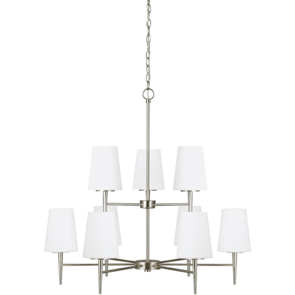 Driscoll Brushed Nickel LED Chandelier - Chandeliers