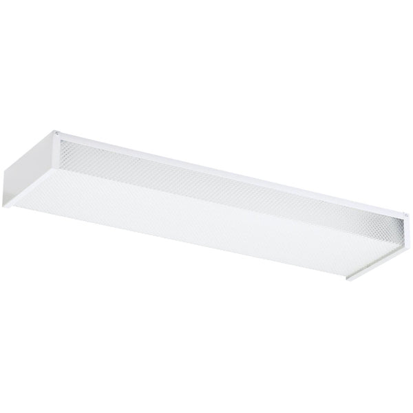 Drop Lens White Fluorescent Flush Mount - Flushmounts