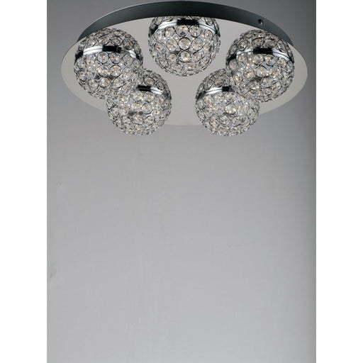 Eclipse Polished Chrome LED Flush Mount Chandelier - Chandeliers