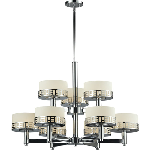 Elea Chrome Chandelier - Chandeliers