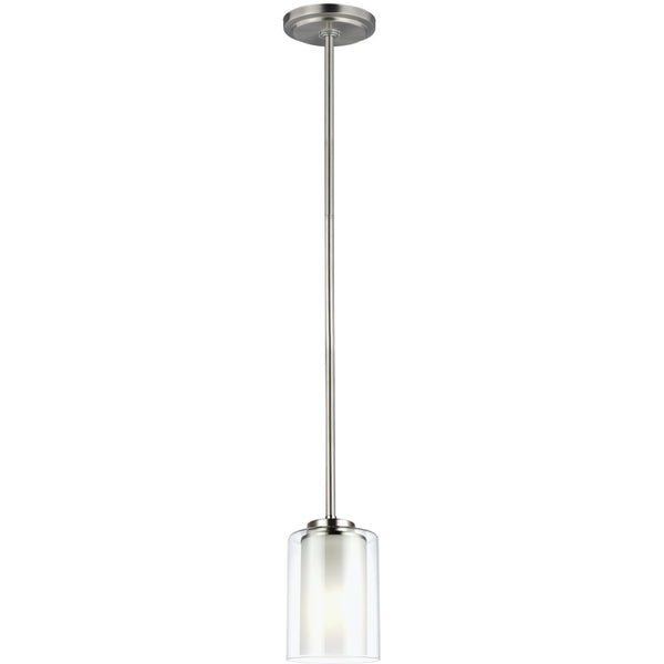 Elmwood Park Brushed Nickel LED Mini-Pendant - Mini-Pendants