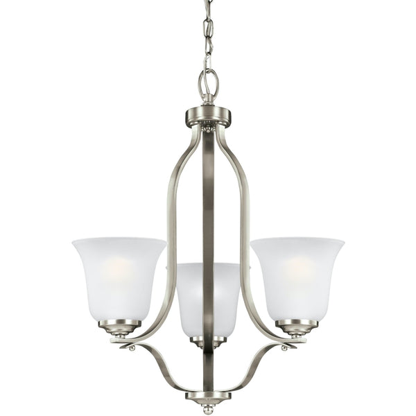 Emmons Brushed Nickel LED Chandelier - Chandeliers