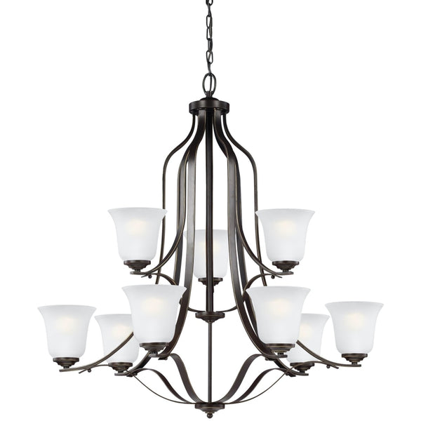 Emmons Heirloom Bronze LED Chandelier - Chandeliers