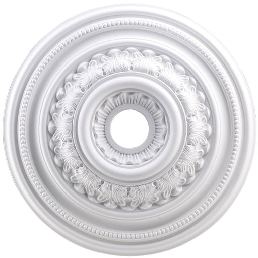 English Study White Medallion - Medallion