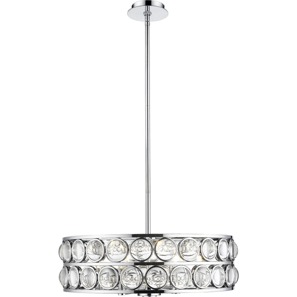 Eternity Chrome Chandelier - Chandeliers