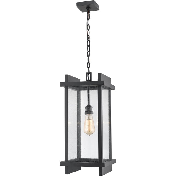 Fallow Black Outdoor Chain Mount Ceiling Fixture - Outdoor Chain Mount Ceiling Fixture