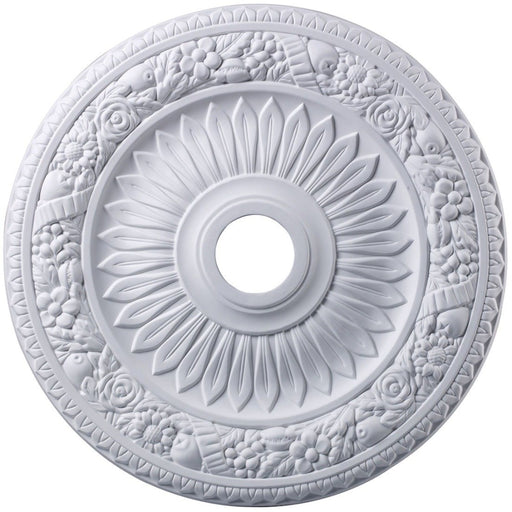 Floral Wreath White Medallion - Medallion
