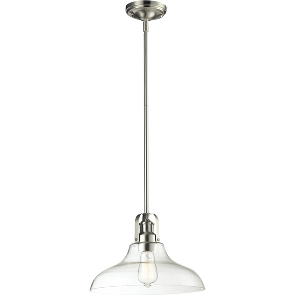 Forge Brushed Nickel Pendant - Pendants