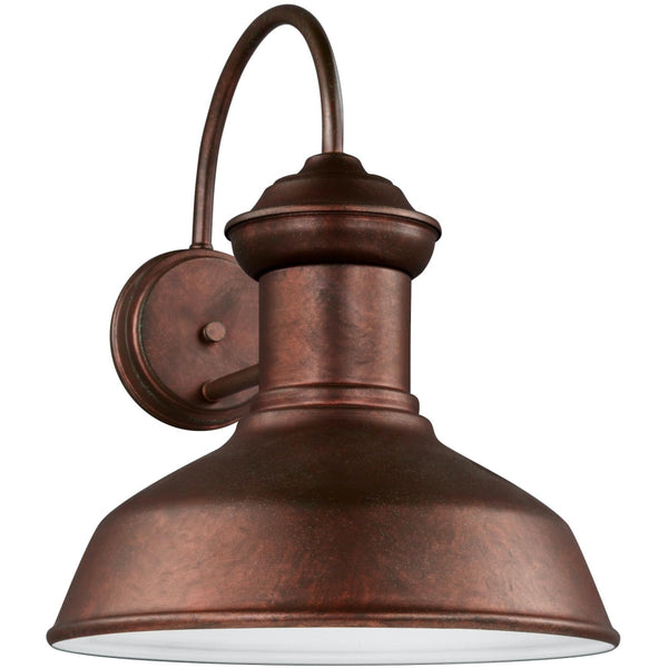 Fredricksburg Weathered Copper LED Outdoor Wall Lantern - Outdoor Wall Sconce