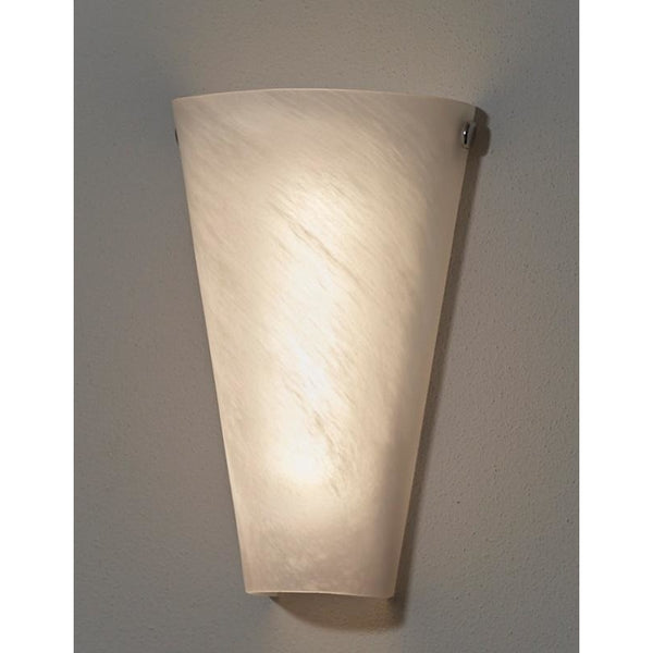 Frosted Marble Glass Conical Wireless Battery Operated LED Wall Sconce - Wireless Wall Sconce