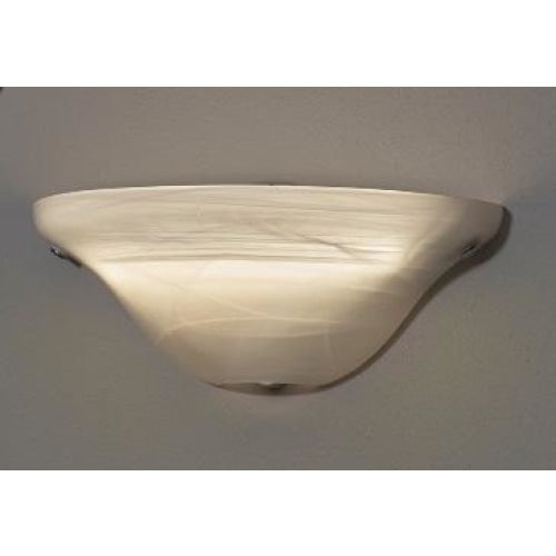 Frosted Marble Glass Half Moon Wireless Battery Operated LED Wall Sconce - Wireless Wall Sconce
