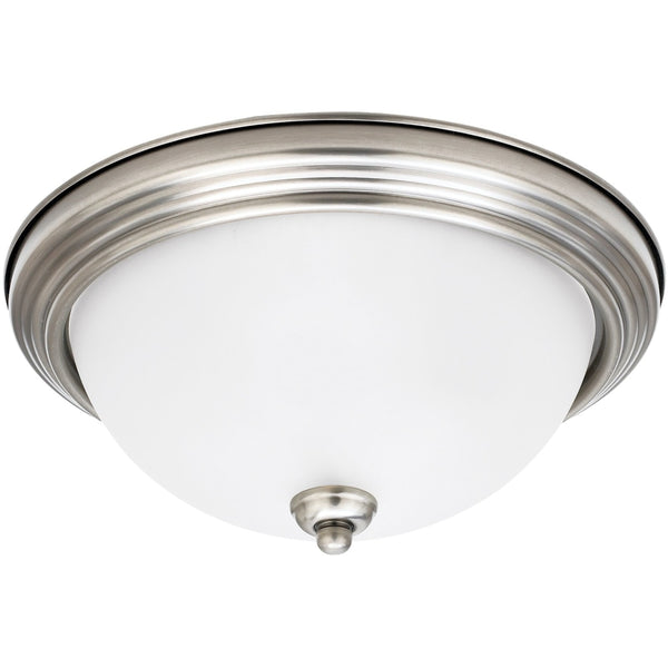 Geary Antique Brushed Nickel Flush Mount - Flushmounts