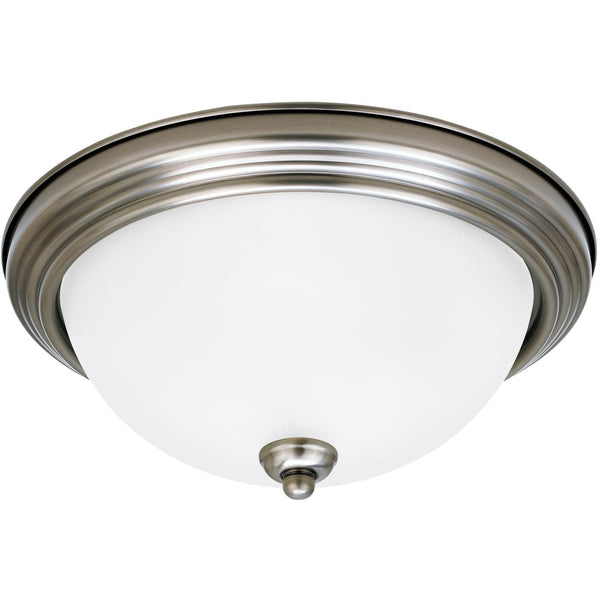 Geary Antique Brushed Nickel LED Flush Mount - Flushmounts
