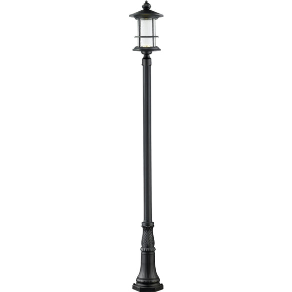 Genesis Black LED Outdoor Post Mounted Fixture - Outdoor Post Mounted Fixture