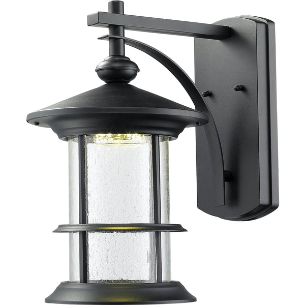 Genesis Black LED Outdoor Wall Sconce - Outdoor Wall Sconce