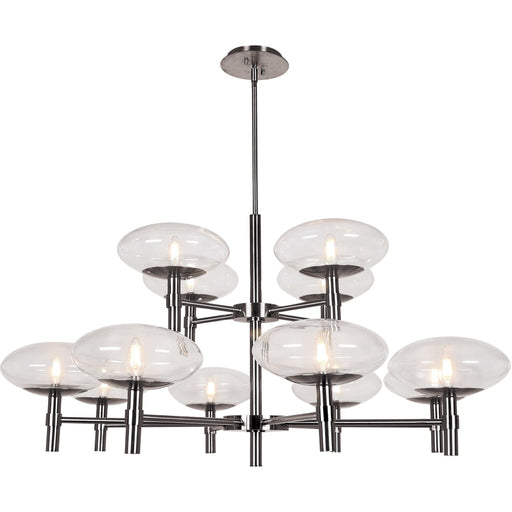 Grand Brushed Steel LED Chandelier - Chandeliers