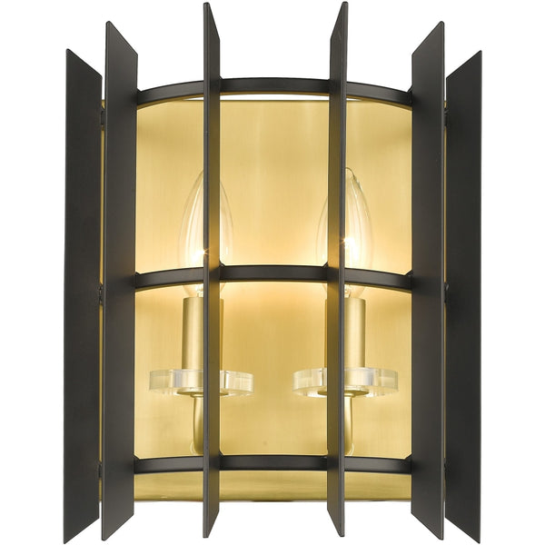 Haake Satin Brass Wall Sconce - Wall Sconces