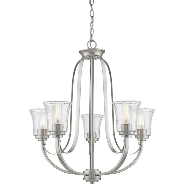 Halliwell Brushed Nickel Chandelier - Chandeliers