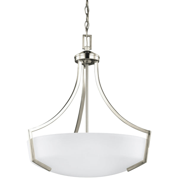 Hanford Brushed Nickel Pendant - Pendants