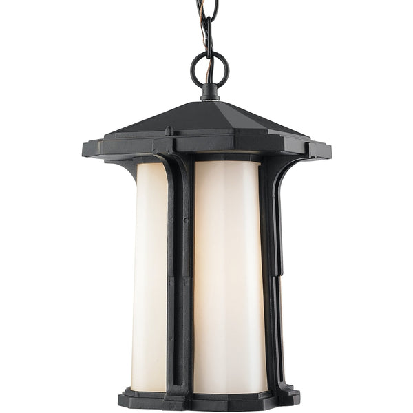 Harbor Lane Black Outdoor Chain Mount Ceiling Fixture - Outdoor Chain Mount Ceiling Fixture