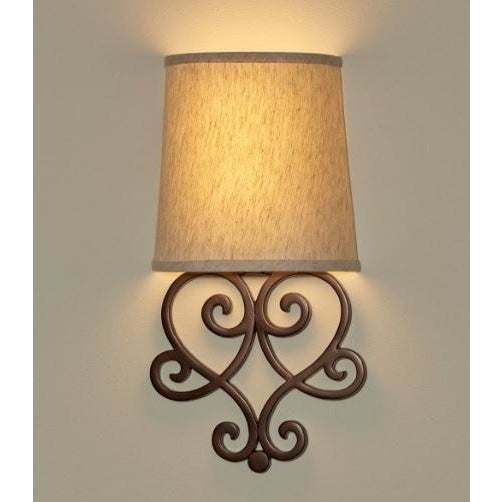 Helix Heart Scroll Wireless Battery Operated Wall Sconce - Wireless Wall Sconce